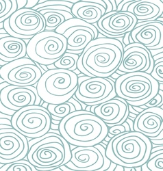 Waves hand drawn pattern background curled vector image