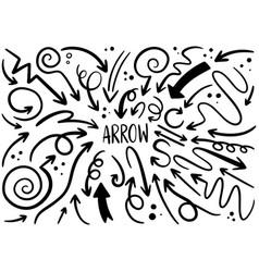 0022 hand drawn arrows vector