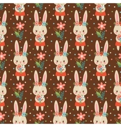 babackground in with bunnies vector image