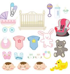Baby items vector