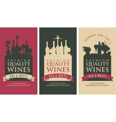 Banners for liquor store vector