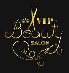 Beauty salon vip vector