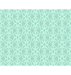 Blue Vintage Forged Lacing Seamless pattern vector image