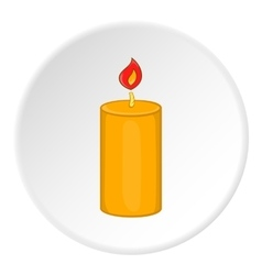 Burning candle icon cartoon style vector image