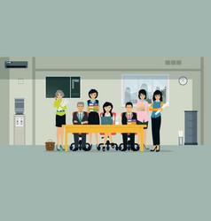 Business coworkers vector