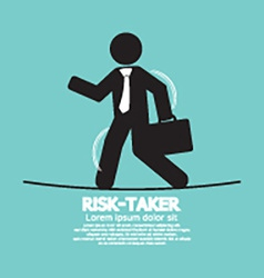 Businessman Walk On A Line Rask-Taker Concept vector image