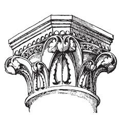 Capital ephesus vintage engraving vector