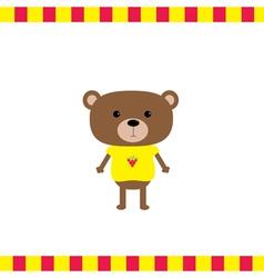 Cartoon bear boy card vector image