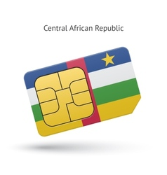 Central African Republic mobile phone sim card vector