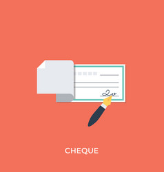 Cheque vector