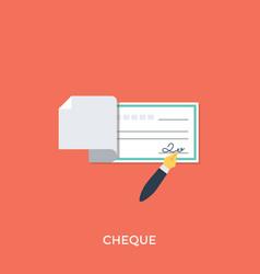 Cheque vector
