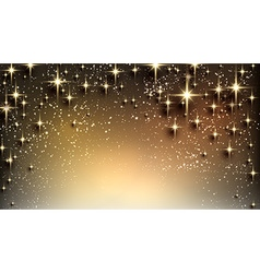 Christmas starry background with sparkles vector