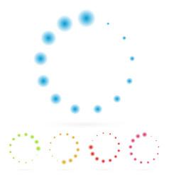 Circular graphics rotated at 45 degrees vector
