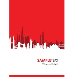 cityscape red vector image vector image