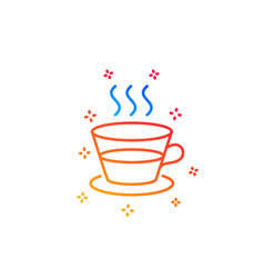 Coffee and tea line icon hot drink sign vector