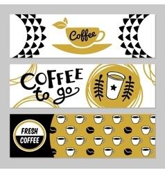 Coffee Banner Set vector image