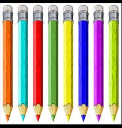 Colored pencils vector