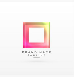 colorful square shiny logo design vector image