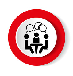 conference icon people sitting at the table vector image