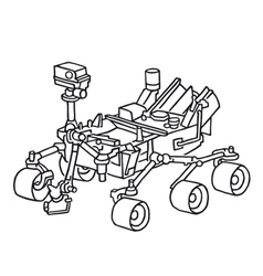 Curiosity the marsrover vector