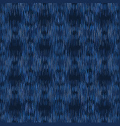Dyed denim blue marl ikat texture variegated vector