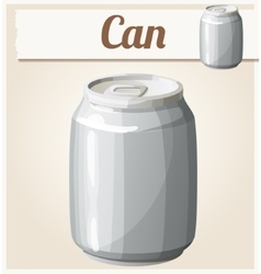 Empty can without label Detailed icon vector image