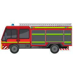 Fire engine on white background vector