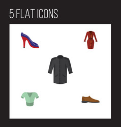 flat icon clothes set of uniform male footware vector image