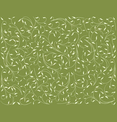 Floral background with the delicate twigs vector