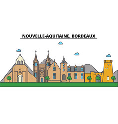 France bordeaux nouvelle aquitaine city vector