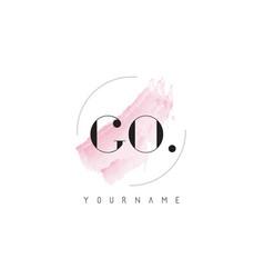 go watercolor letter logo design with circular vector image