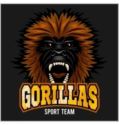 Gorilla head logo vector