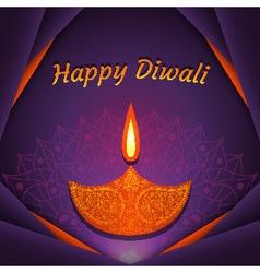Greeting card for Diwali festival vector