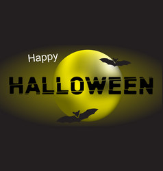 happy halloween and moon vector image