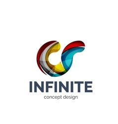 Infinite logo business branding icon vector