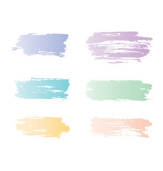 Ink brush strokes colored with gradient pastel vector