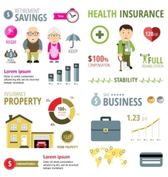 Insurance infographic vector
