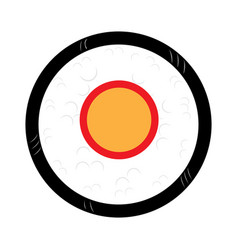 isolated colored sushi vector image