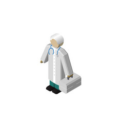 isolated doctor isometric medic element vector image