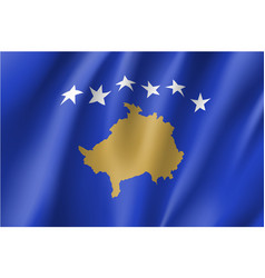 Kosovo national flag vector