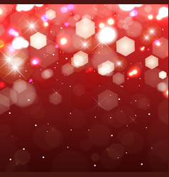 Lights on red background shimmering colored vector