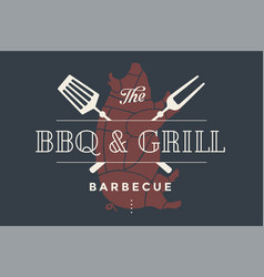 Logo template of restaurant vector