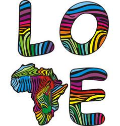 love to zebras africa vector image