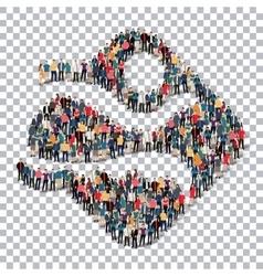 man symbol people Transparency vector image
