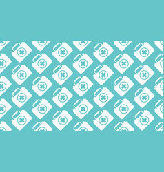 medical seamless pattern with flat icon of vector image