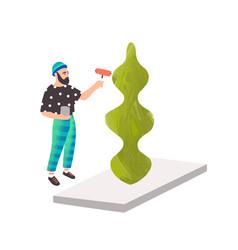 Modern artist stylish guy vector