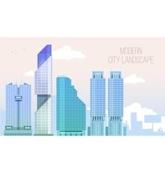 Modern City View Skyscraper Cityscape Background vector image
