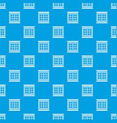 Modern window frame pattern seamless blue vector