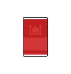 Moslem prayer rugs simple flat icon for ramadan vector
