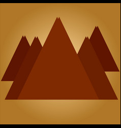 mountains on coffee background vector image